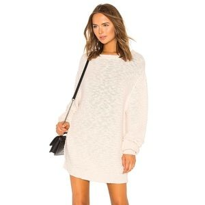 FREE PEOPLE Menace Solid Tunic Sweater in Ivory M
